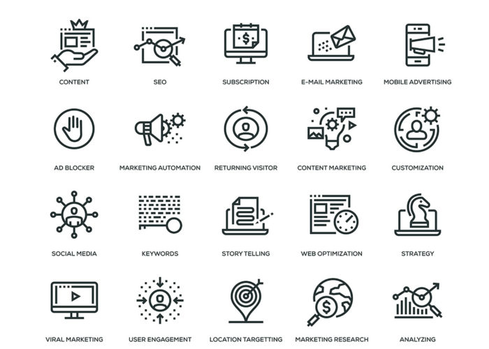 Icons: Internet & Online-Marketing