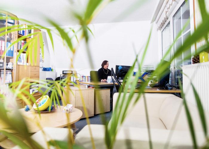 Kerstin Thieler - Blick durch die Blume zum Schreibtisch